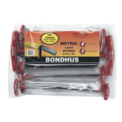 Robinair Bondhus 13187 T-Handles Balldriver Hex 8pc Set