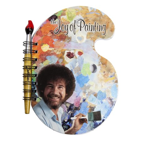 "Bob Ross ""The Joy of Painting"" Paint Palette Journal & Brush Pen"