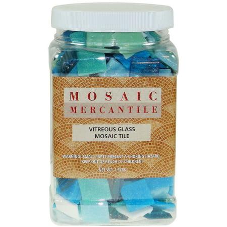 Mosaic Mercantile Vitreous Glass Mosaic Tiles, Horizon Mix