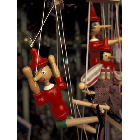 - Marionette, Pinocchio Puppet, Taormina, Sicily, Italy Print Wall Art By Connie Ricca