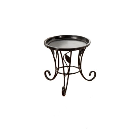 Iron Metal Mini Small Flower Plants Pot Stand for Indoor Outdoor Balcony Desk (Black)](Mini Flower Pots Bulk)