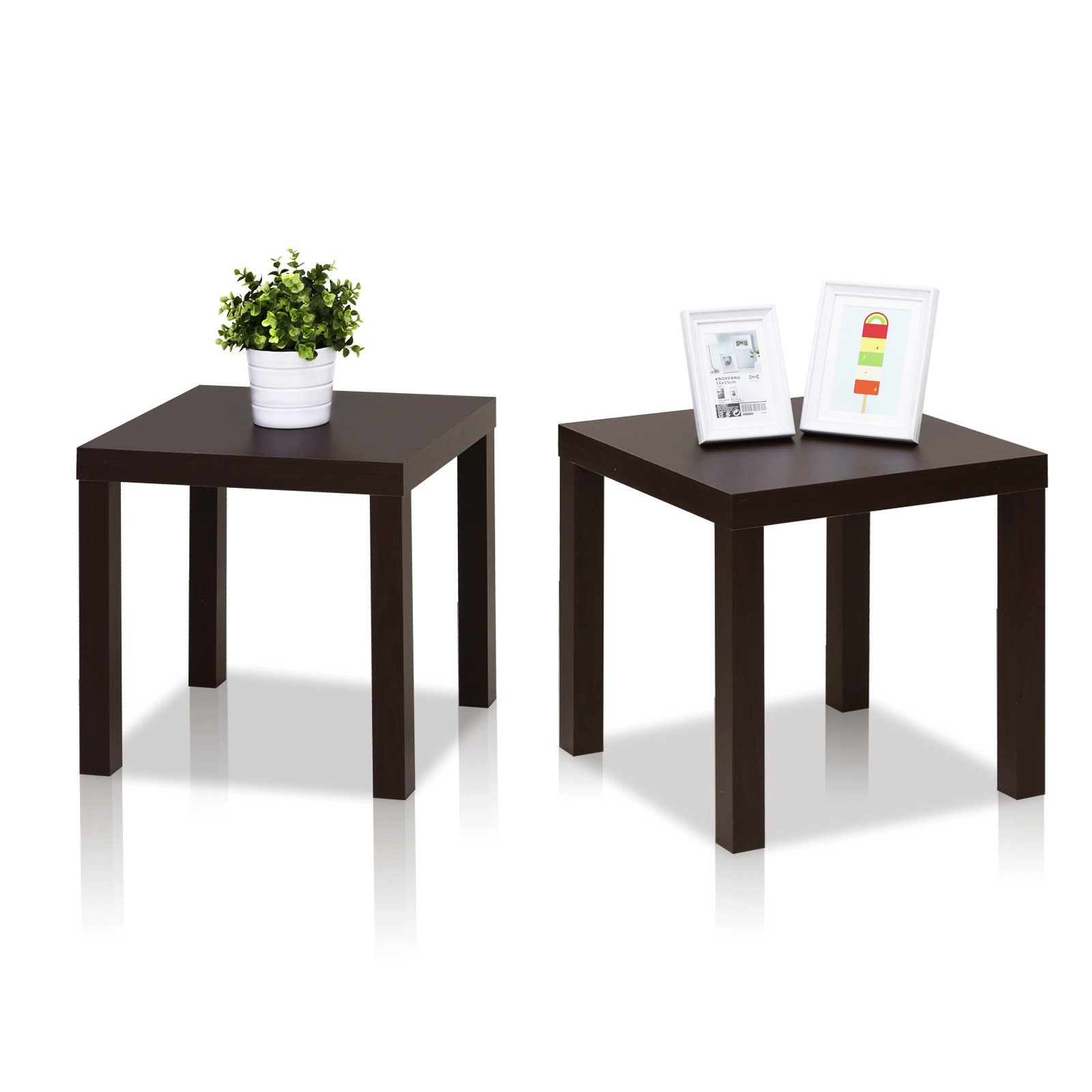 High Quality Furinno 2FRN001EX Classic Cubic End Table, Set Of 2, Espresso