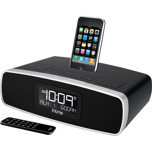 iHome, iP90, Dual Alarm Stereo Clock Radio for your iPhone/iPod with AM/FM Presets