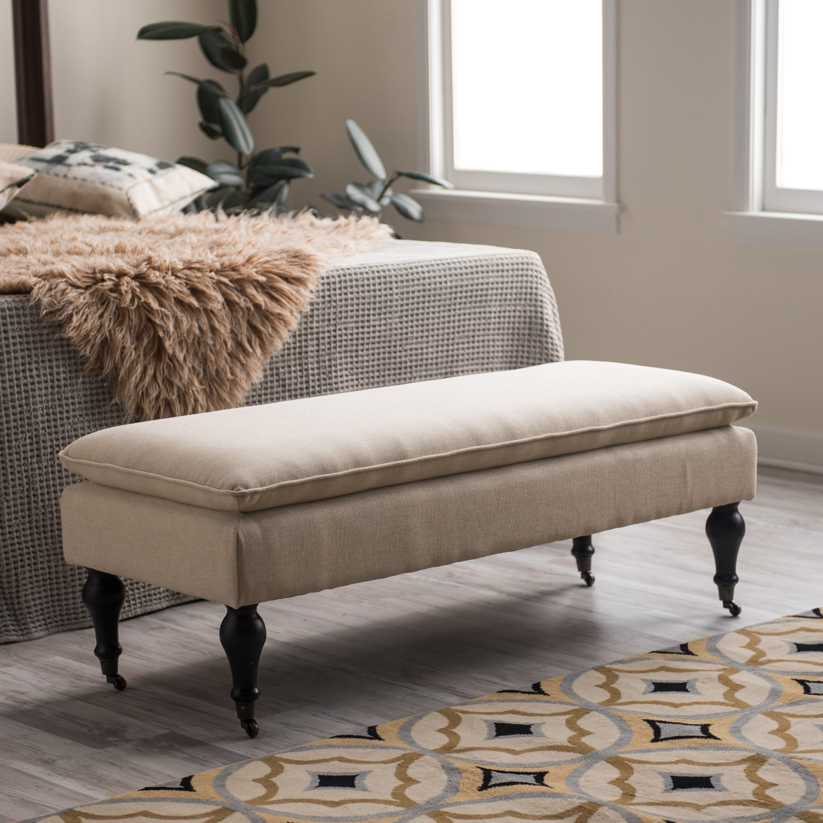 Belham Living Addison Pillow Top Upholstered Bench