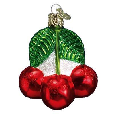 Cherries Christmas Ornament 28050 Merck Family's Old World Christmas (Merck Familys Old World Christmas)