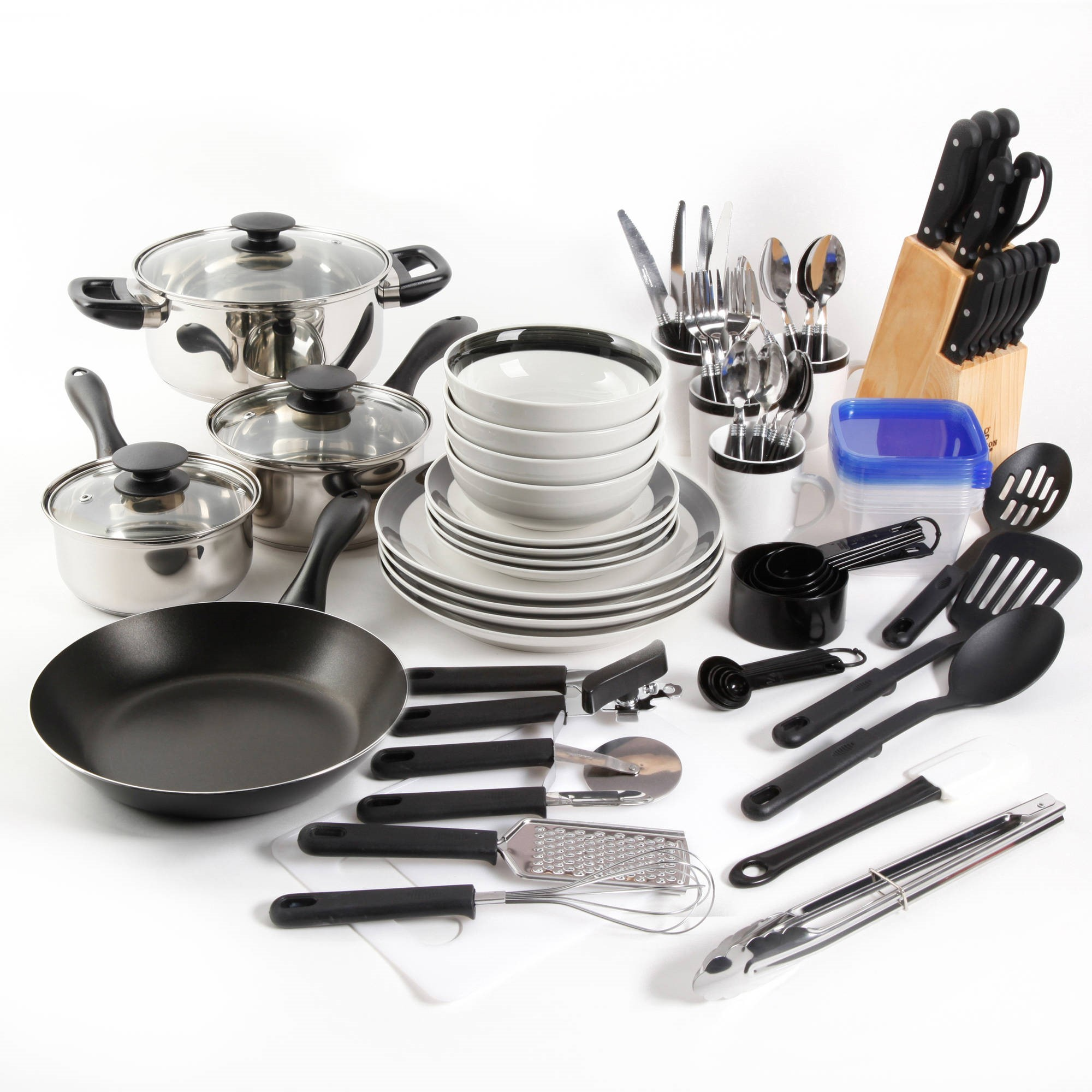 gibson home essential total kitchen 83-piece combo set - walmart