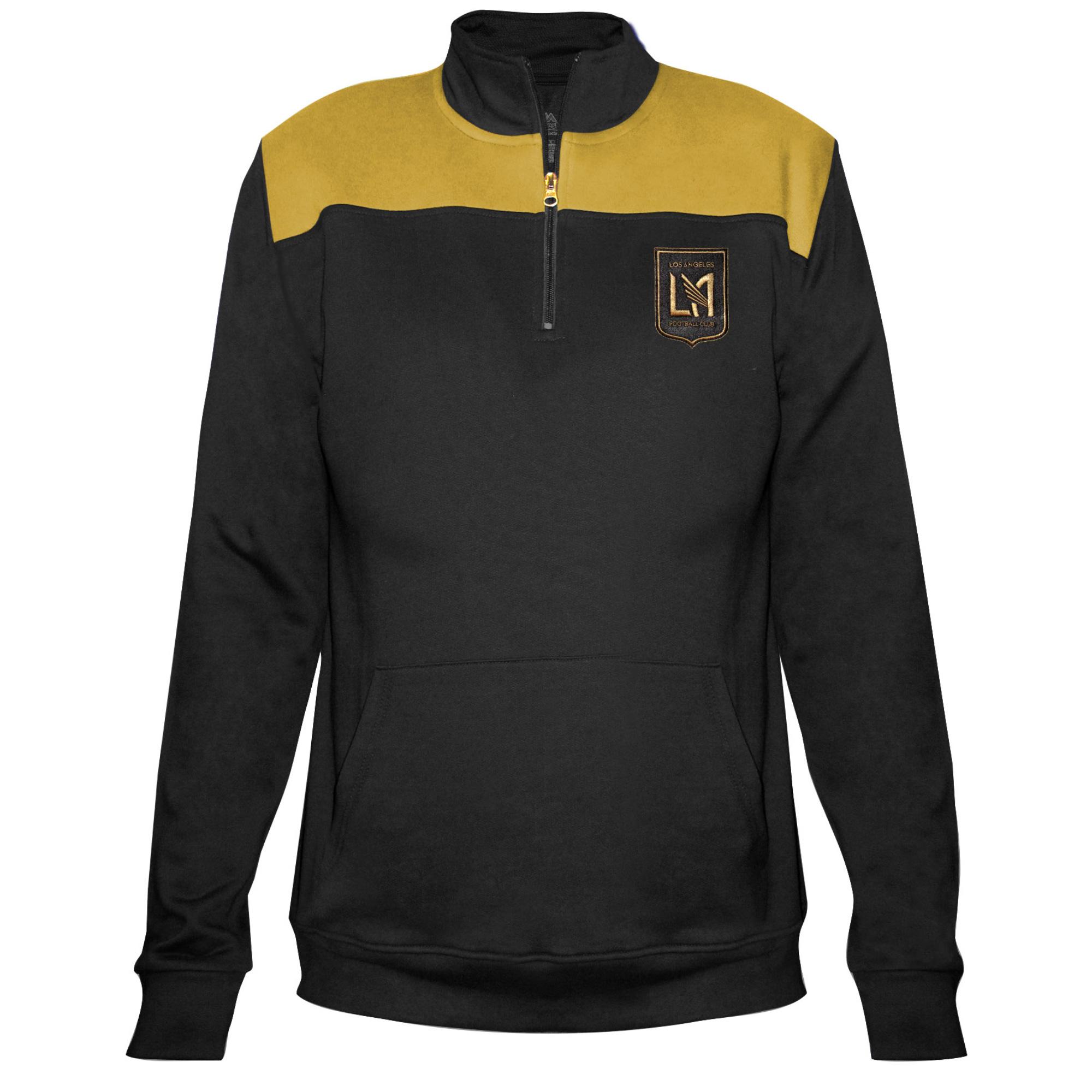 LAFC Majestic Women's 1/4-Zip Pullover Jacket - Black