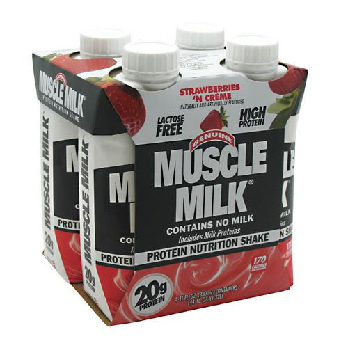 CytoSport Muscle Milk RTD Strawberries 'N Cream - 12 - 11 fl oz shakes