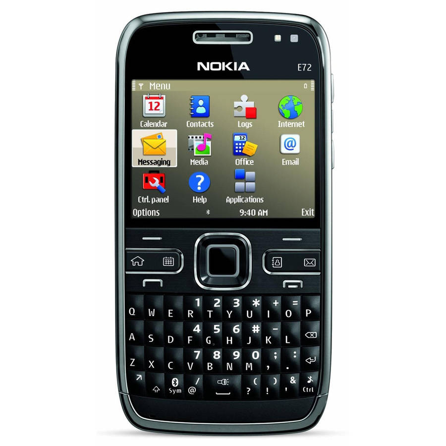 Nokia E72 GSM Symbian OS QWERTY + Trackpad Cell Phone (Unlocked), Zodium Black
