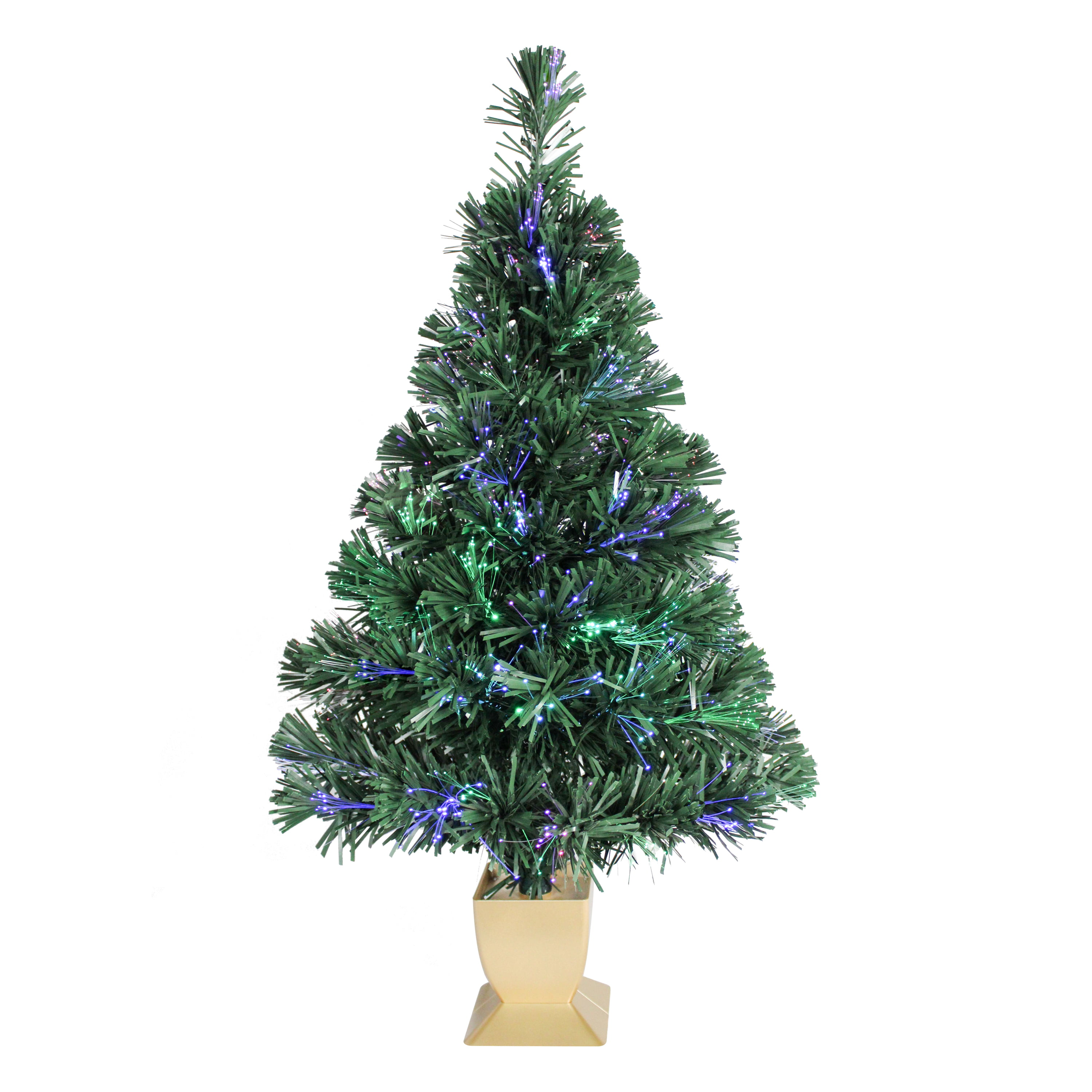 Holiday Time Fiber Optic Concord Christmas Tree 32 in, Green