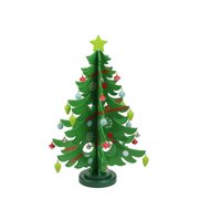 1375 decorative wooden christmas tree cut out table top decoration