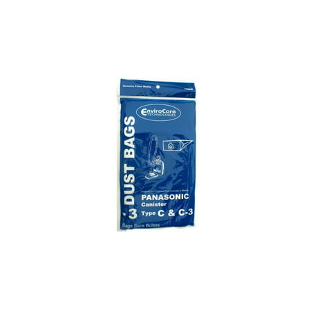 Panasonic Type C-3 vacuum cleaner bags #MC-125PT - Generic -3 pack