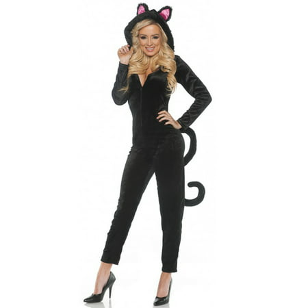 Black Cat Jumpsuit Adult - Cats With Costumes
