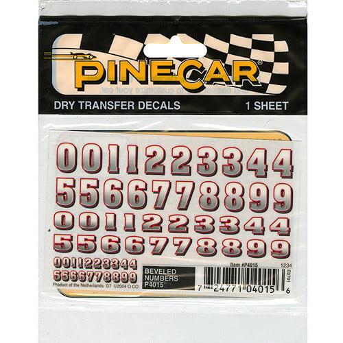"Pine Car Derby Dry Transfer Decal, 3"" x 2.5"" Sheet"