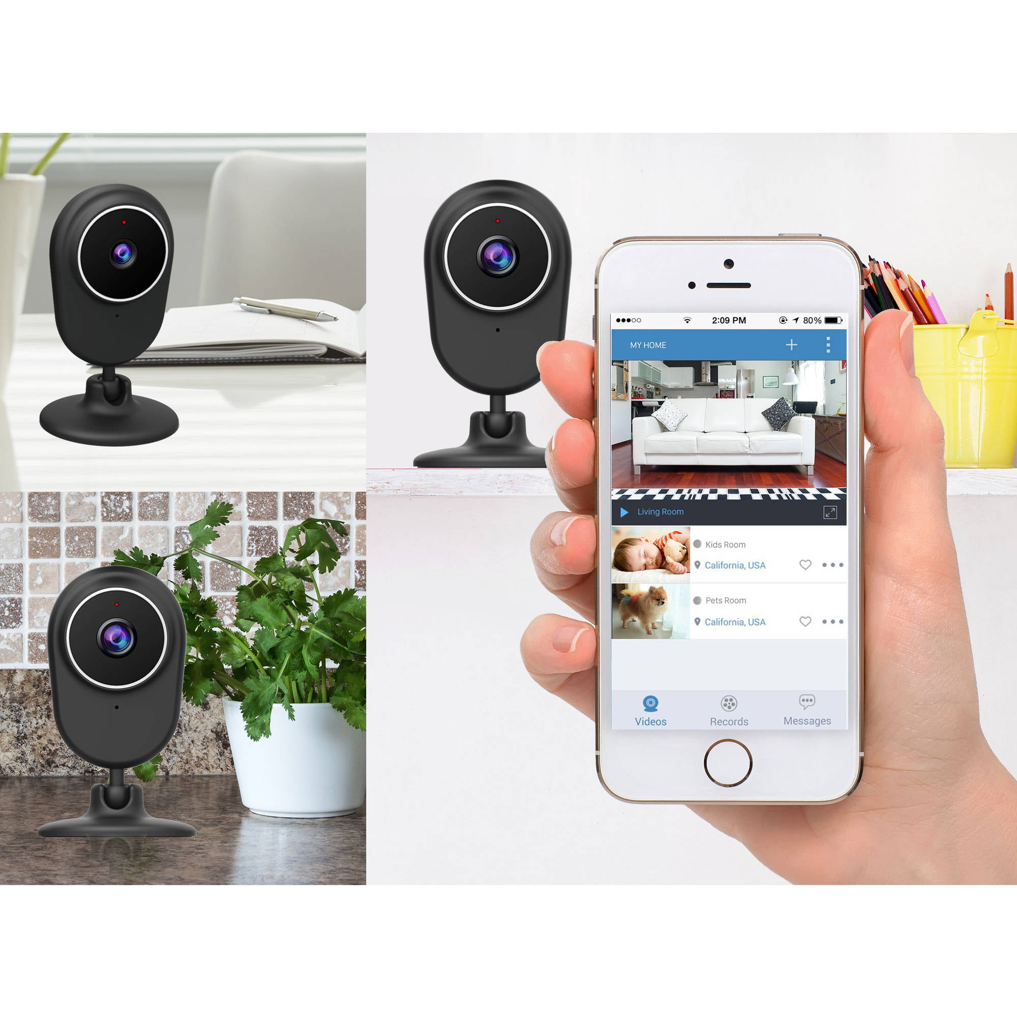 Momentum 720p WiFi Video Audio Monitoring Camera   Walmart.com