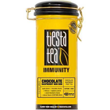 Tiesta Tea Immunity, Chocolate Raspberry Bon Bon, Loose Leaf Herbal Tea Blend, Caffeine Free, 5 Ounce Tin