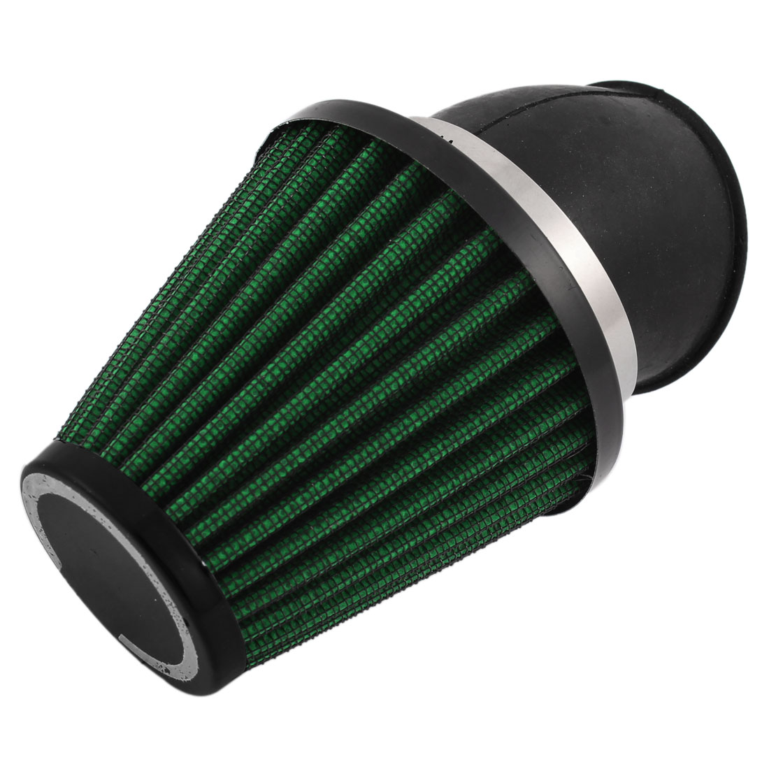 38-57mm Clamp Flange Motorcycle Air Intake Filter Cleaner Muffler Green
