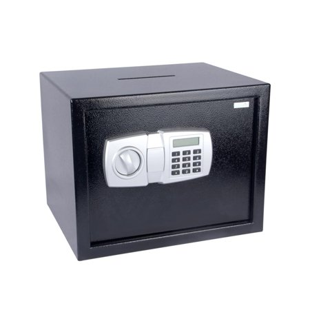 SereneLife SLSFE348 - Electronic Safe Box with Mechanical Override, Includes Keys
