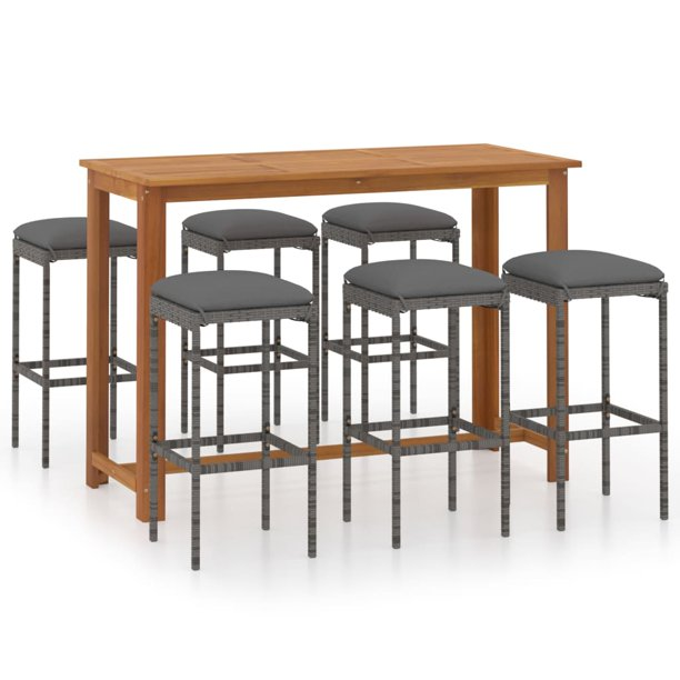 Dioche 7 Piece Garden Bar Set With, Bar Sets Furniture