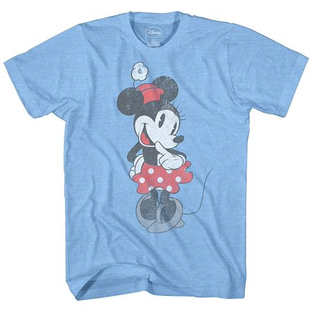 05aac3ba Disney - Disney Minnie Mouse Shirt Vintage Shy Graphic Men's Adult T-Shirt  - Walmart.com