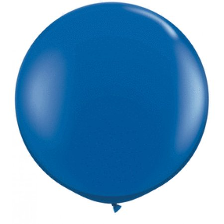 Koyal Wholesale Round Latex Giant Balloon (Pack of 2), 3', Sapphire Blue