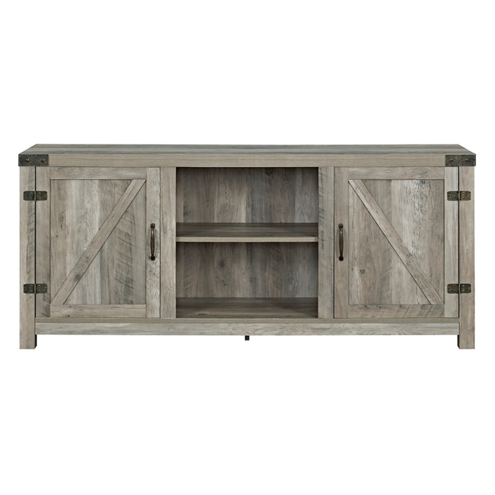 Manor Park Barn Door TV Stand with Side Doors by Walker Edison