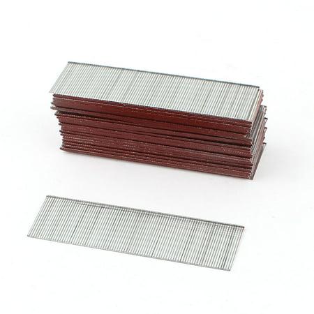 Unique Bargains 3828Pcs Silver Tone 30mm Length Chisel Point Galvanized Finish Brad