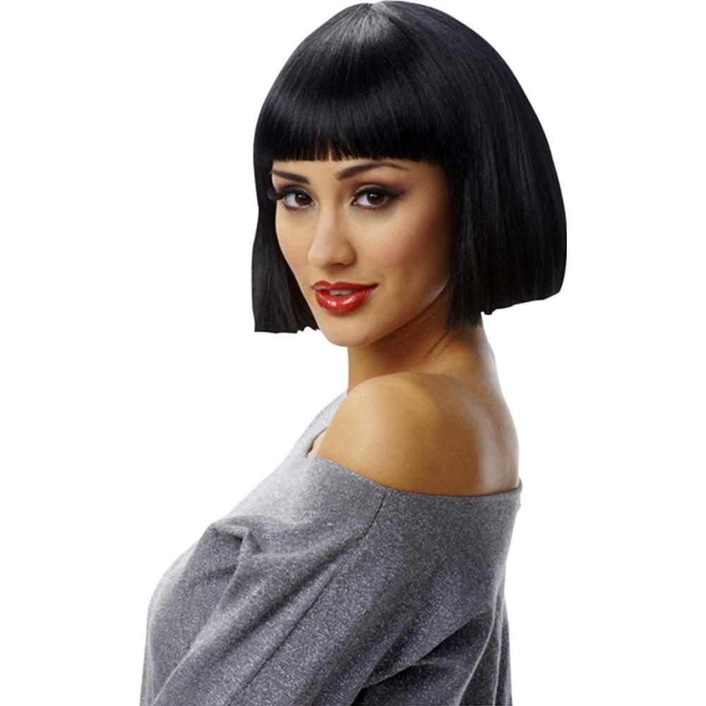 Short Black Cleopatra Wig 45