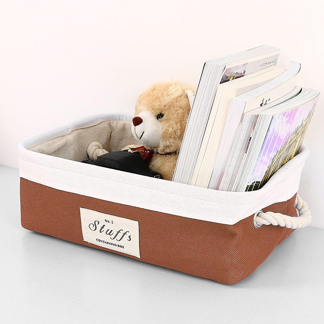 Collapsible Storage Baskets Bin Container With Handle Toys Storage Organizer Shelf Basket,3 Size