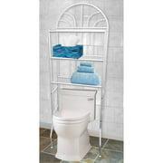 Home Basics 3 Shelf Steel Bathroom Space Saver White
