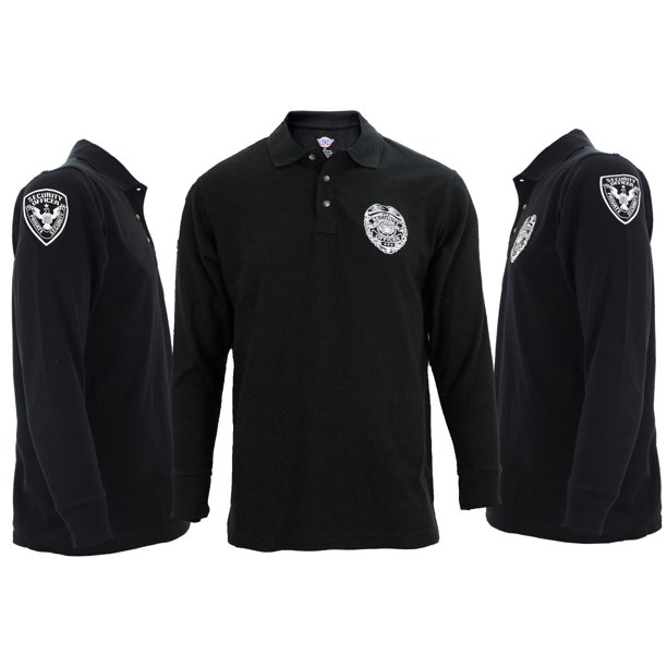 First Class Security Long Sleeve Polo Shirts