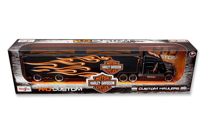Harley Davidson Custom Hauler Trailer Black 1 64 Diecast Model by Maisto by Diecast Dropshipper