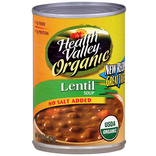 Health Valley Lentil Soup, 15 oz (Pack of 6)
