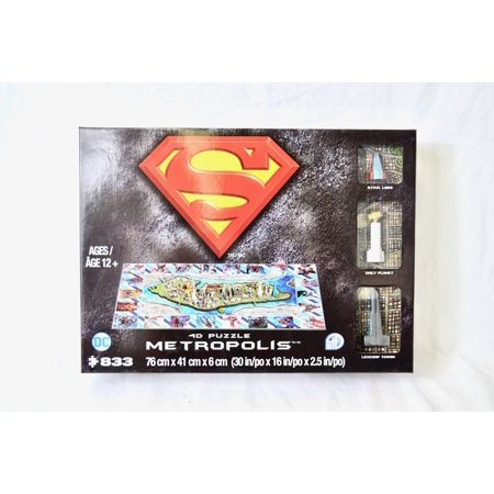 Cityscape DC Superman Metropolis 4D Puzzle + Poster  - image 2 of 2
