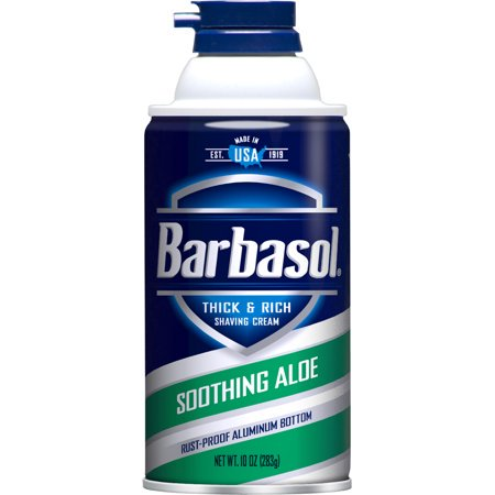 (3 Pack) Barbasol Soothing Aloe Thick & Rich Shaving Cream for Men, 10