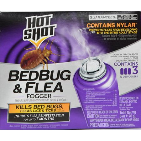 Hot Shot Bedbug & Flea Fogger, Aerosol, 3/2-Ounce