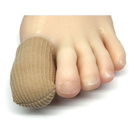 ZenToes 5 Pack Toe Caps Closed Toe Fabric Sleeve Protectors with Gel Lining