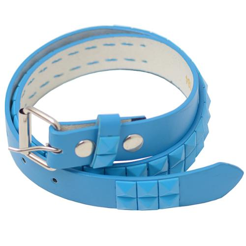 "Girls Turquoise Pyramid Studded Single Prong Belt M-XL (24-35"")"