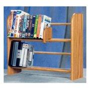 2 Row Dowel Media Rack (Honey Oak)