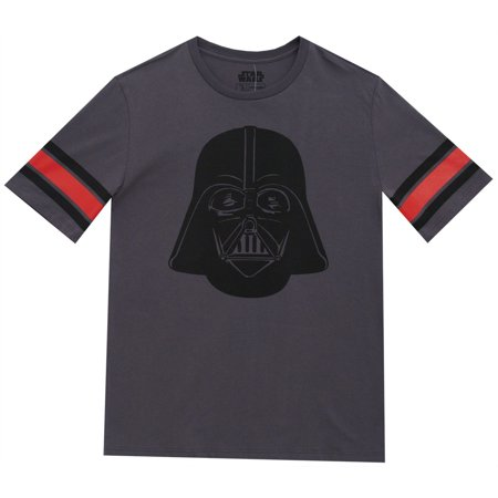 Star Wars Darth Vader Movie Striped Sleeve Mighty Fine Adult T-Shirt Tee