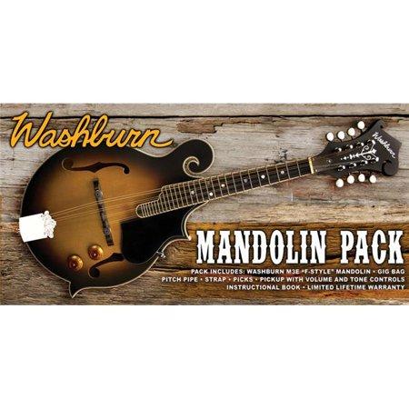 Washburn M3EK-A-U F Style Acoustic Electric Mandolin Pack Sunburst