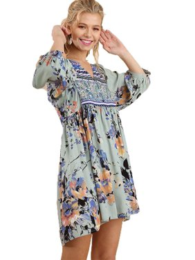 e7930d3e1db0 Product Image Umgee Women's Sage Bohemian Tunic or Dress