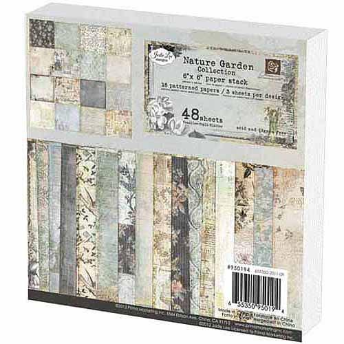 "Prima Marketing Single-Sided Paper Pad 6""X6"" 48/Pkg-Nature Garden, 16 Designs/3 Each"