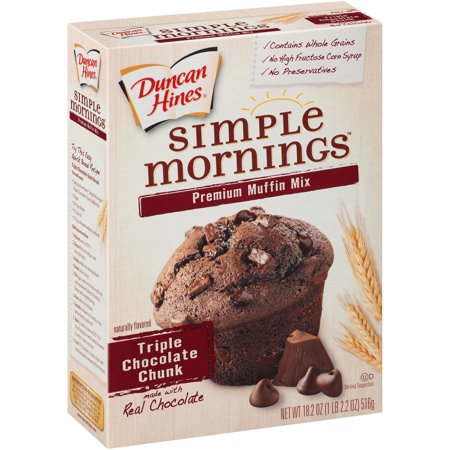 Duncan Hines Simple Mornings Premium Muffin Mix Triple ...