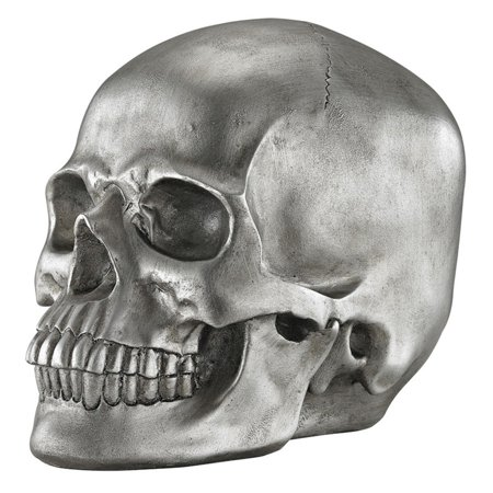 Sterling Knell Skull Figurine Contemporary Wood Sculpture