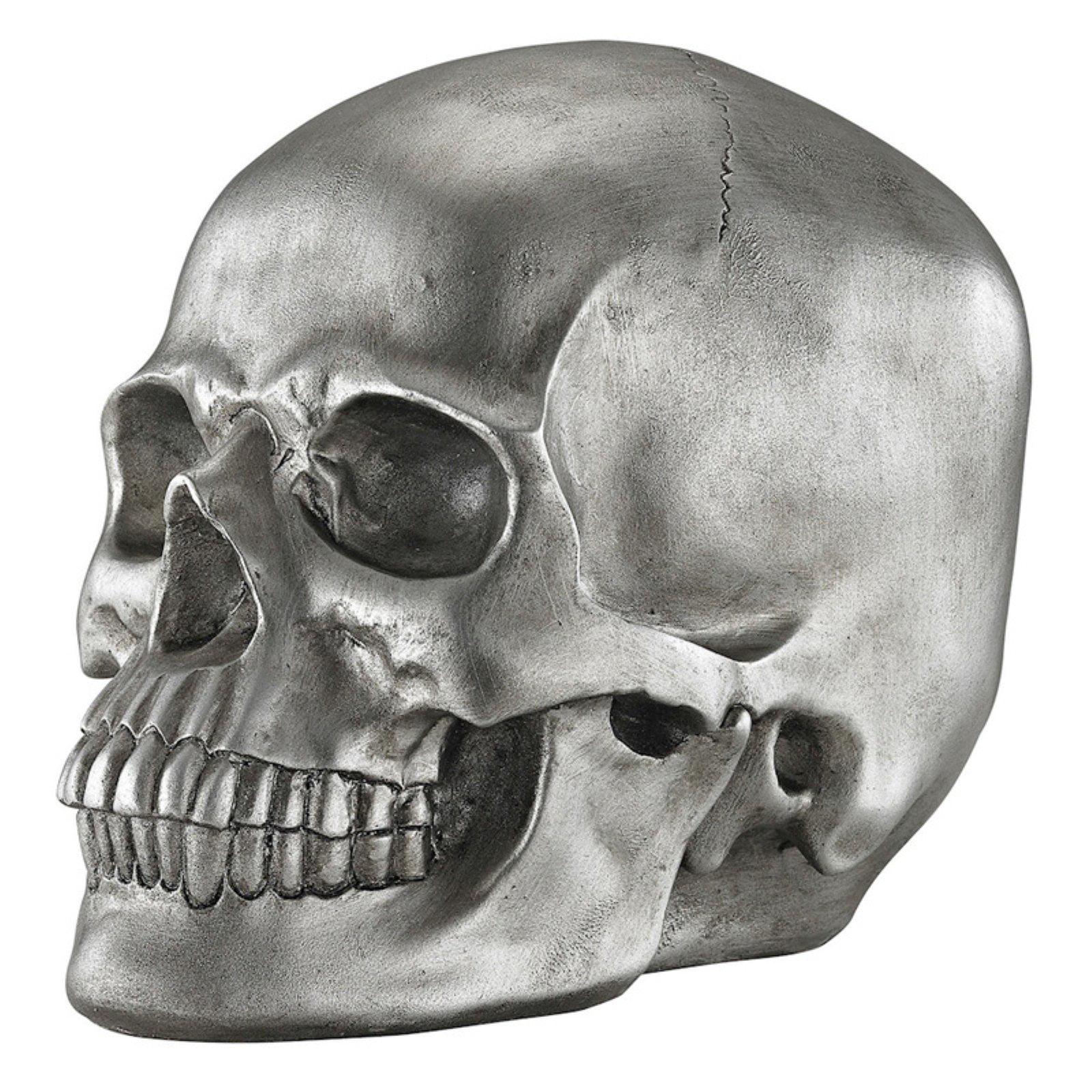 Sterling Knell Skull Figurine