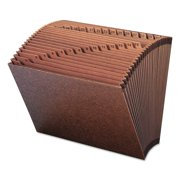 Smead 31 Pocket Accordion Expanding File, Open Top, Letter, Redrope