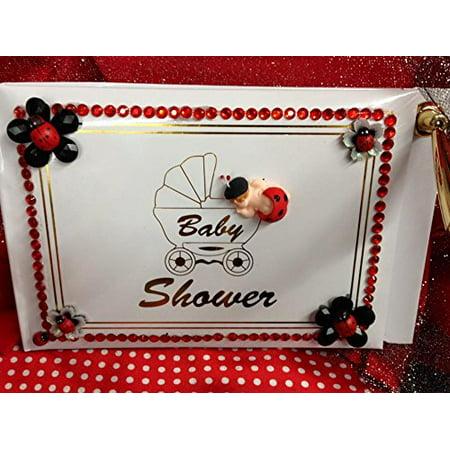 Ladybug Baby Shower Signature Guest Book Keepsake Gift Walmart