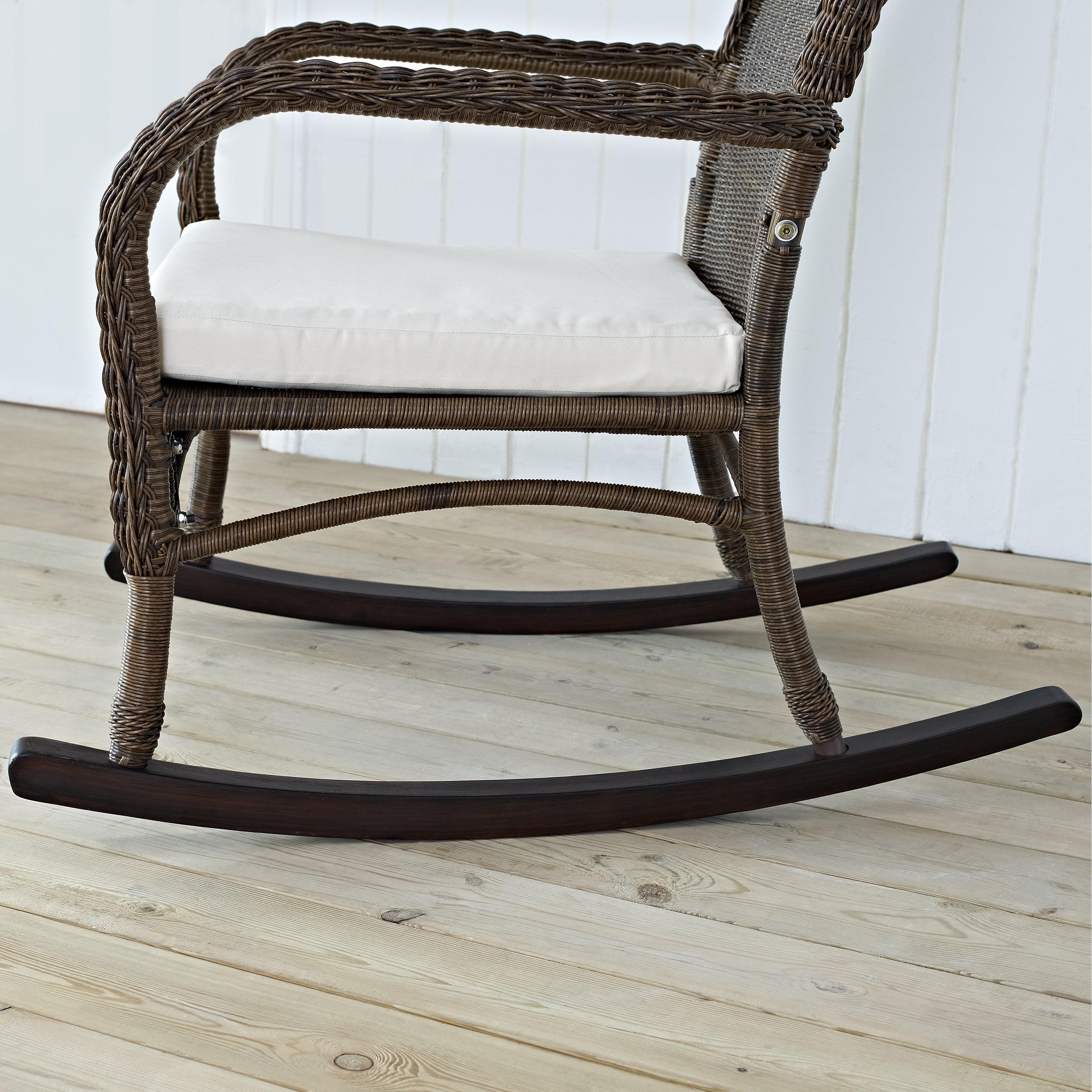 coral coast mocha resin wicker rocking chair with beige cushion walmartcom - Wicker Rocking Chair
