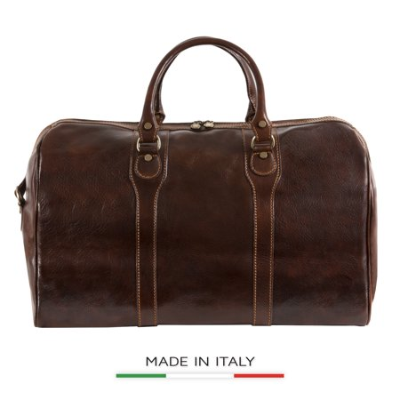Alberto Bellucci Italian Leather Amato Carry-on Traveler Duffel (Alberto Guardiani Leather)